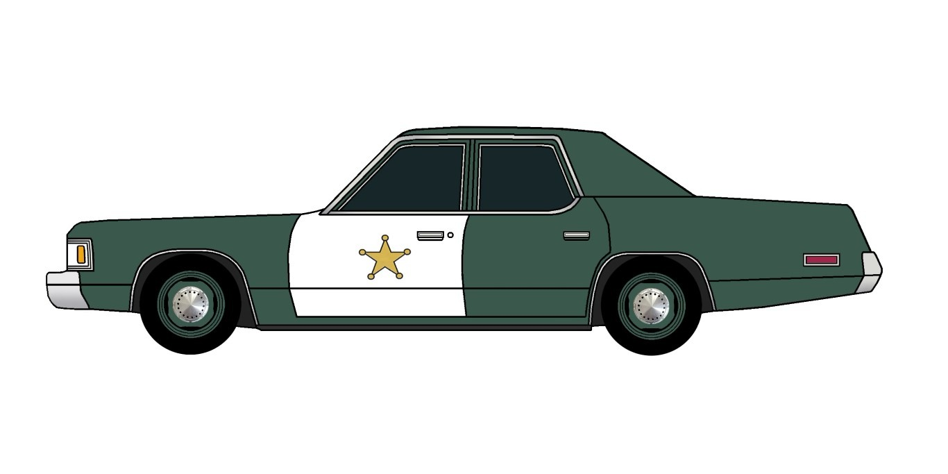 1976 Dodge Royal Monaco Police HUNTER GREEN