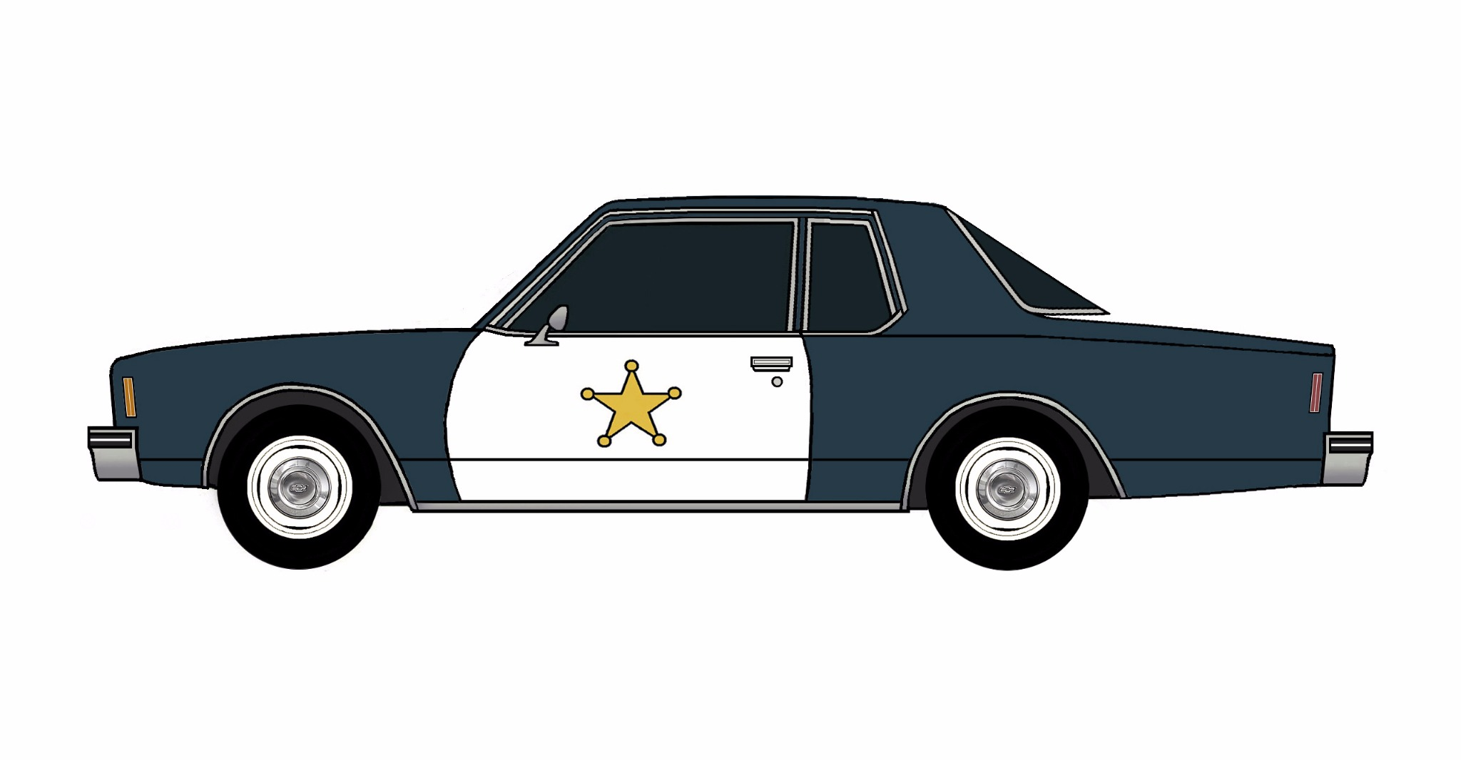 1977 Chevy Impala Police Coupe NAVY BLUE