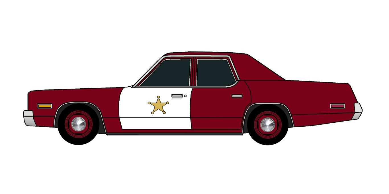 1974 Plymouth Fury Police DARK BURGUNDY