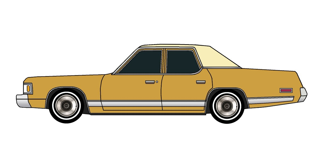 1977 Dodge Royal Monaco INDIAN YELLOW