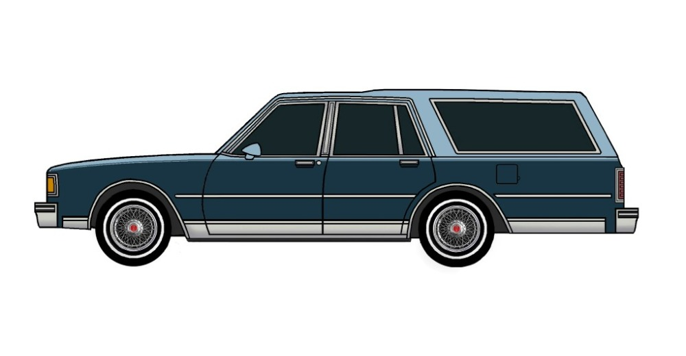 1983 Pontiac Parisienne Safari Wagon LIGHT BLUE & MIDNIGHT BLUE