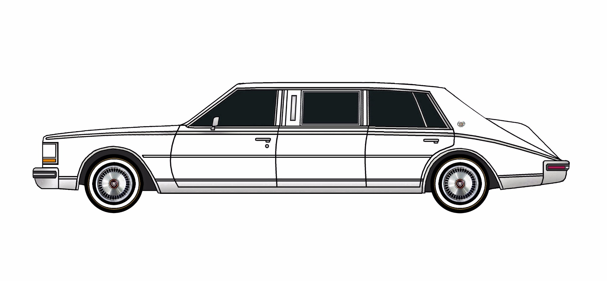 1980 Cadillac Seville Limo WHITE