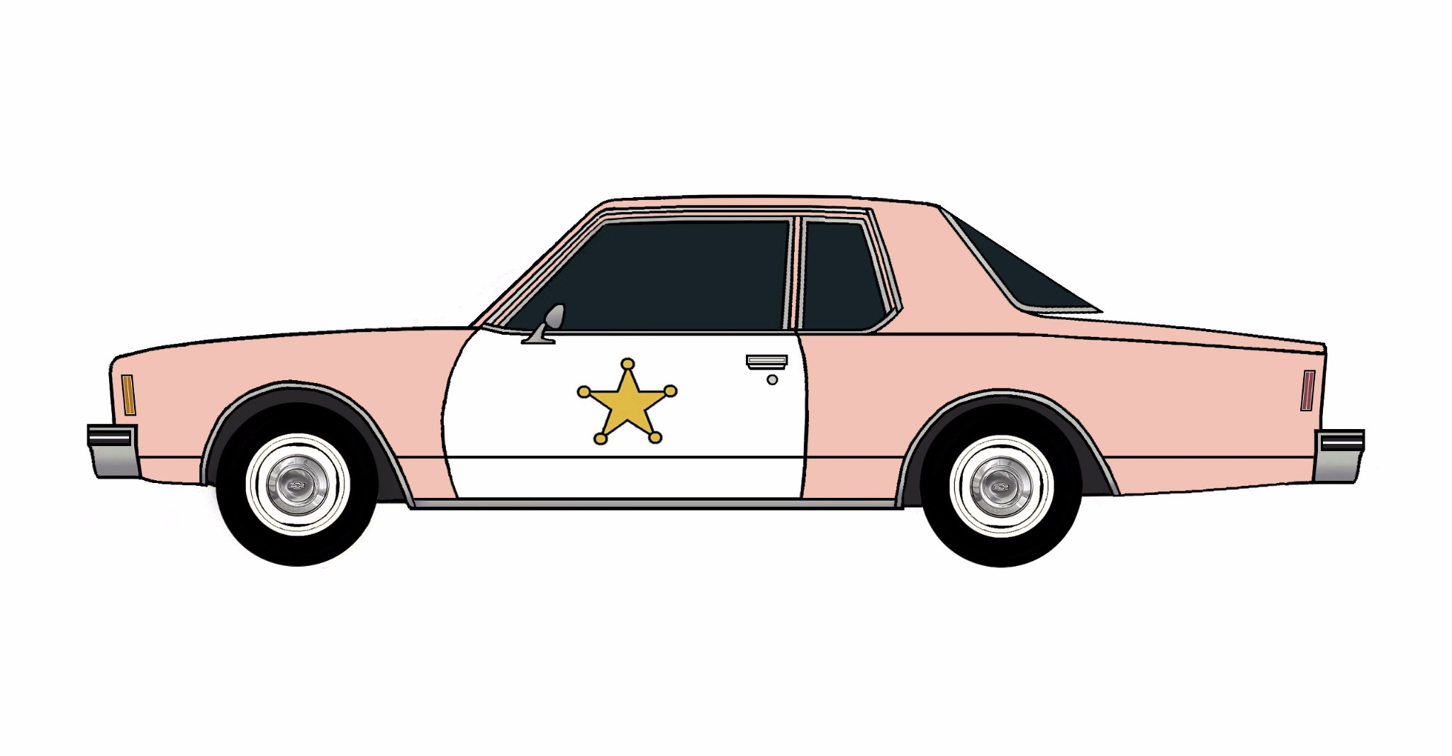 1977 Chevy Impala Police Coupe ROSE PINK