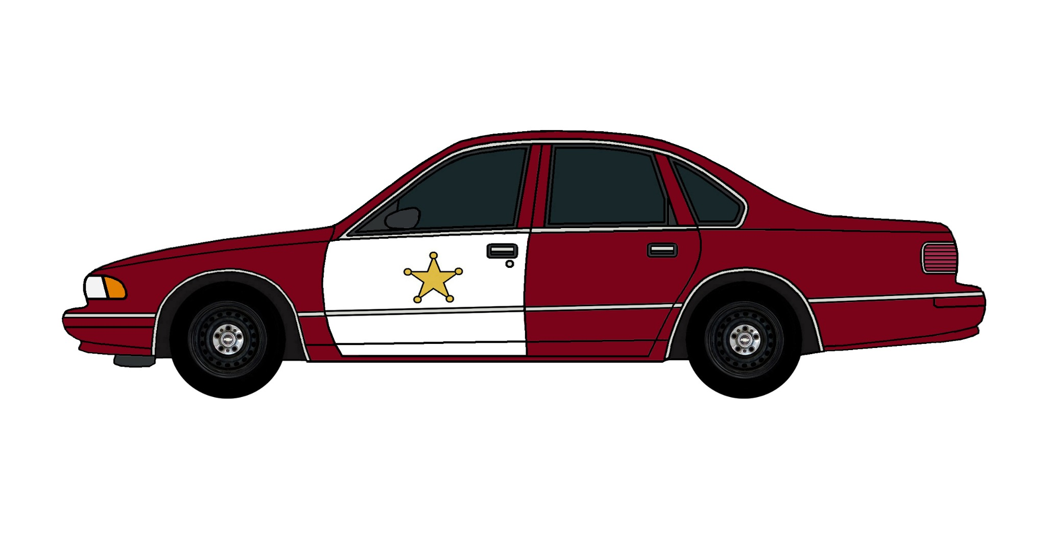 1995 Chevy Caprice Police Car DEEP BURGUNDY