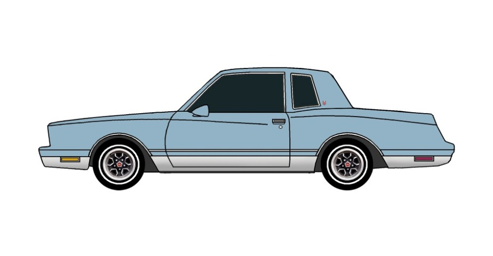 1981 Chevy Monte Carlo LIGHT BLUE