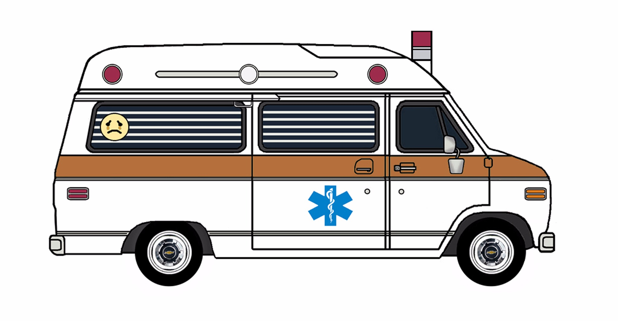 1977 Chevy G20 Ambulance WHITE & COPPER