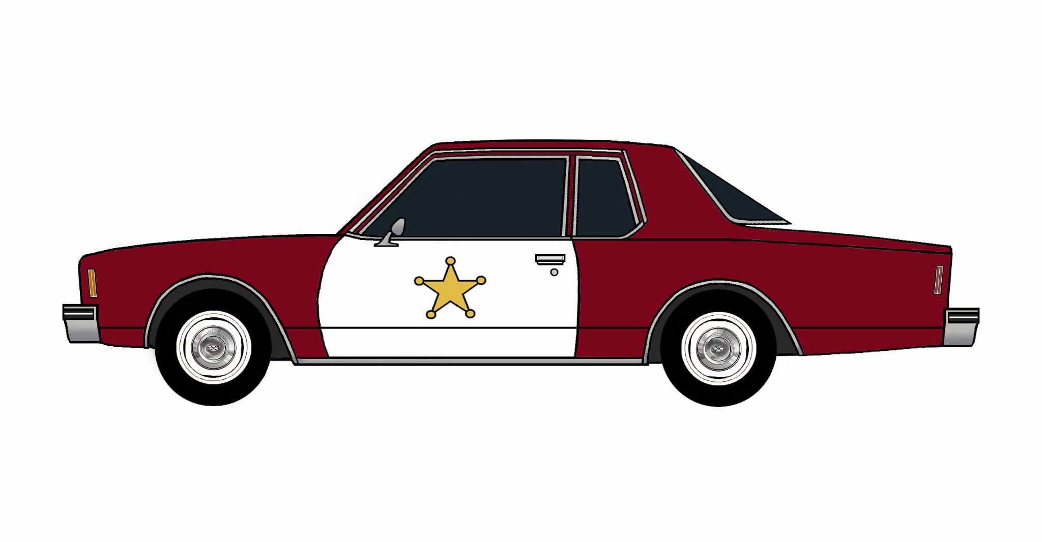 1978 Chevy Impala Police Coupe DARK BURGUNDY