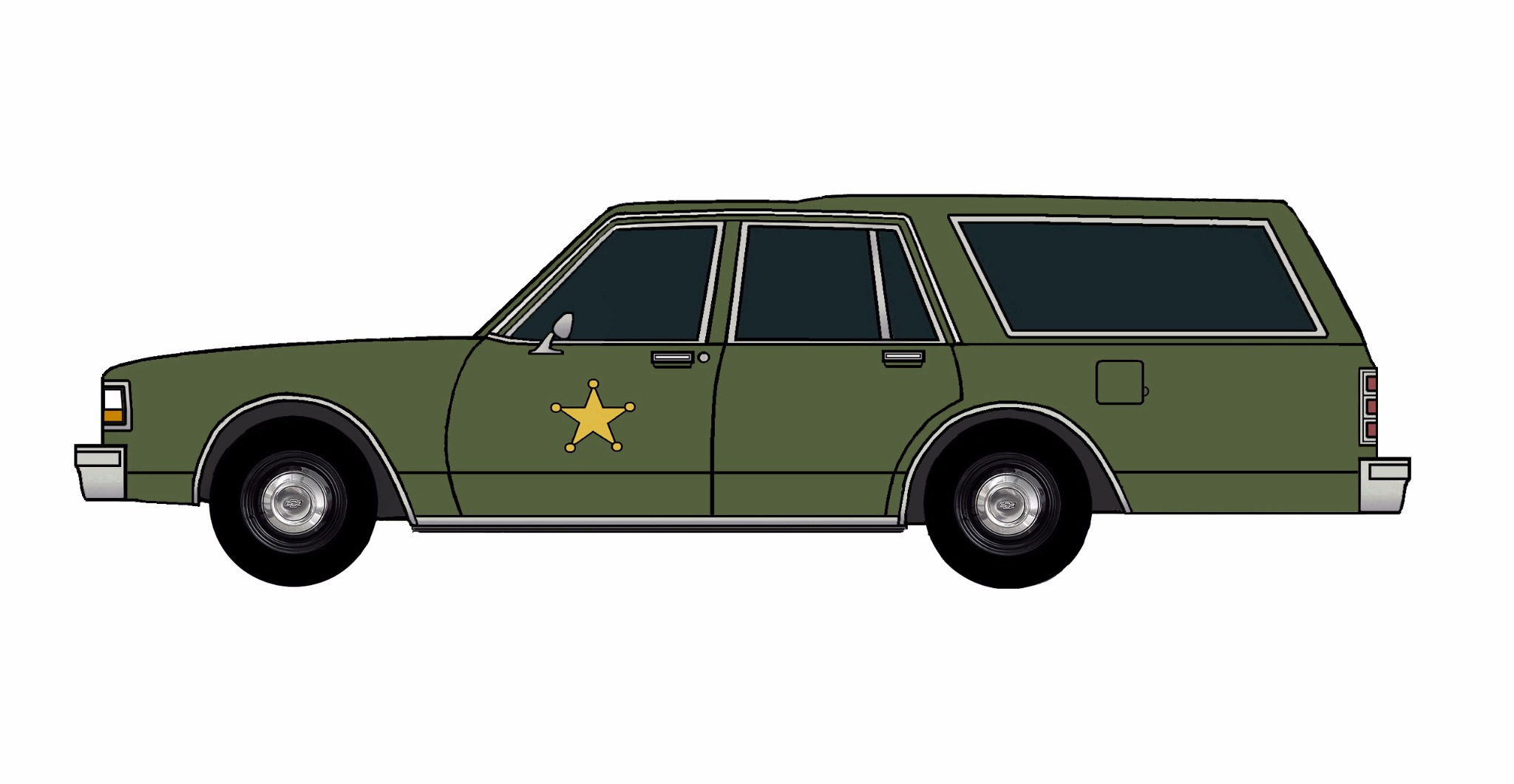 1987 Chevy Caprice 9C1 Wagon ARMY GREEN