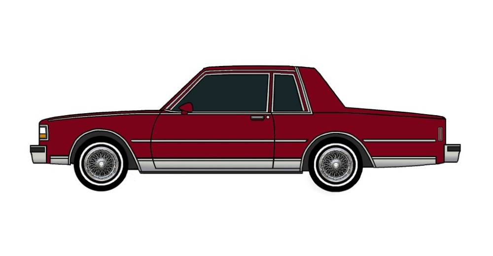 1987 Chevy Caprice Coupe BURGUNDY