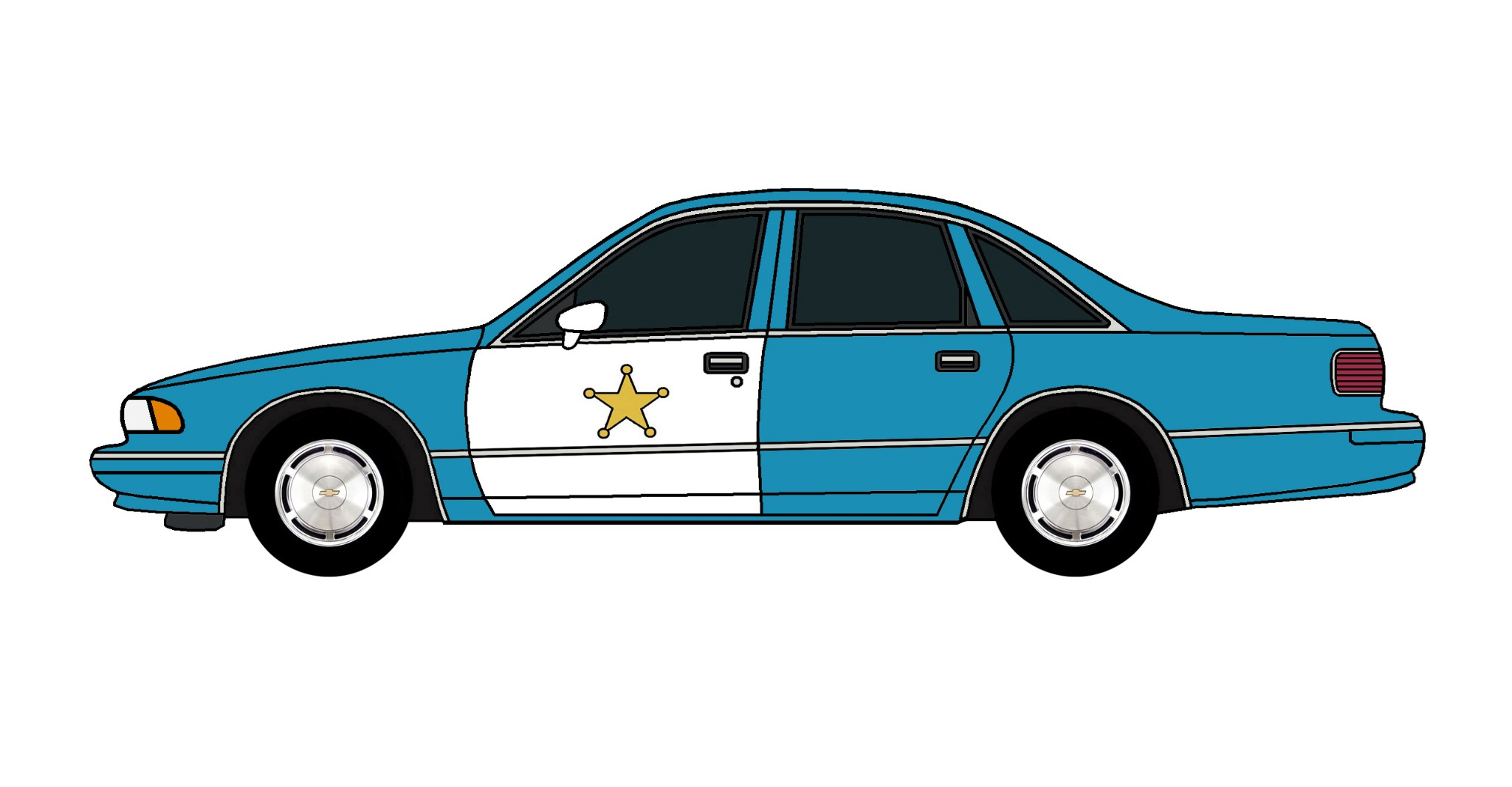 1994 Chevy Caprice Police Car SEA BLUE