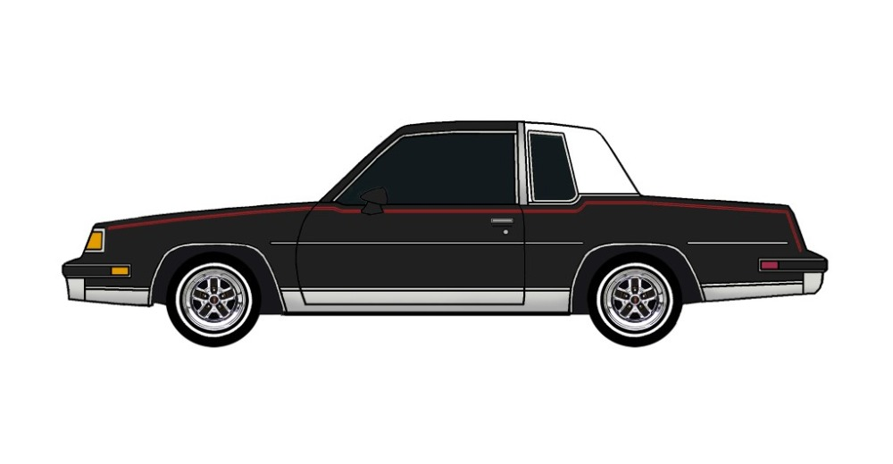 1987 Oldsmobile Cutlass BLACK