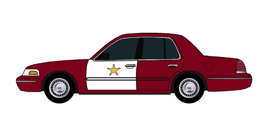 1998 Ford Crown Victoria Police Car DEEP BURGUNDY