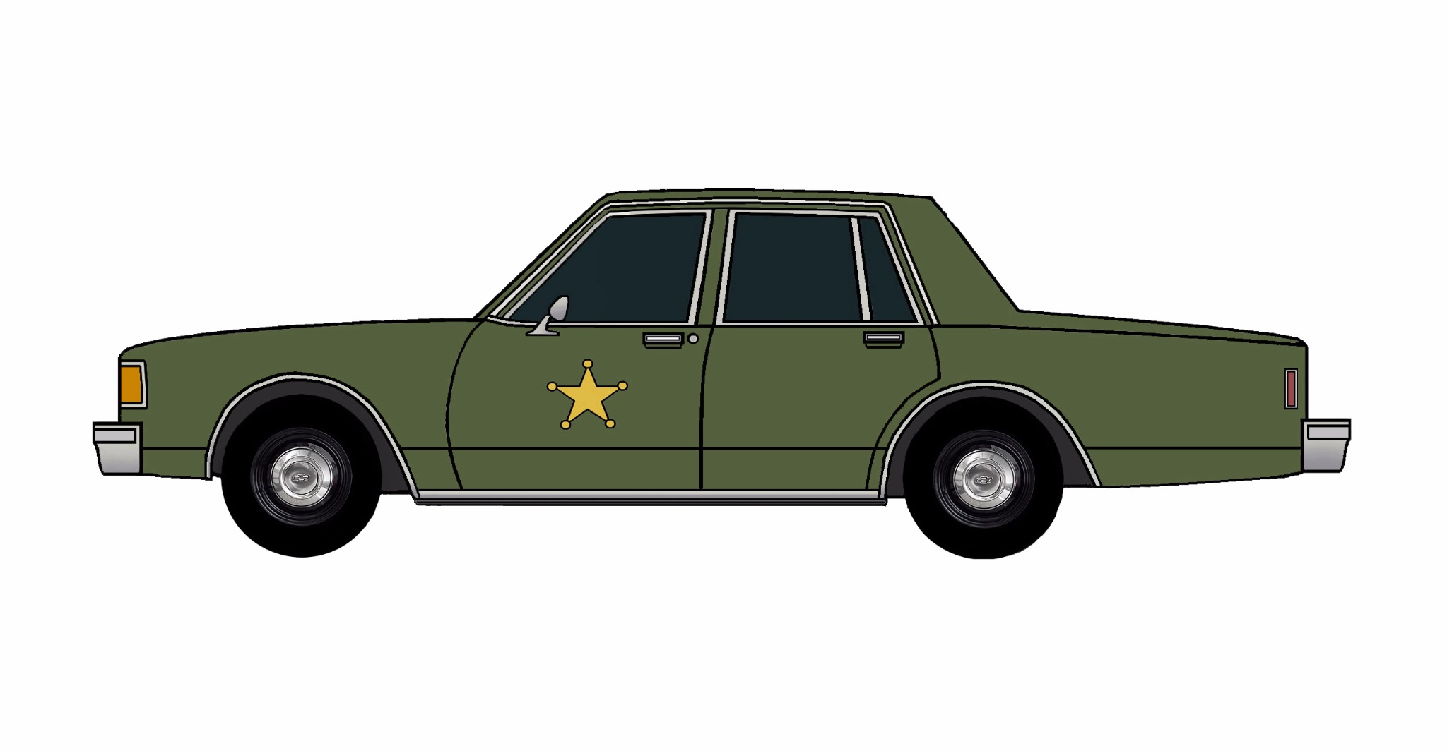 1986 Chevy Caprice 9C1 ARMY GREEN