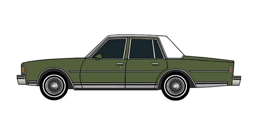 1979 Chevy Caprice ARMY GREEN