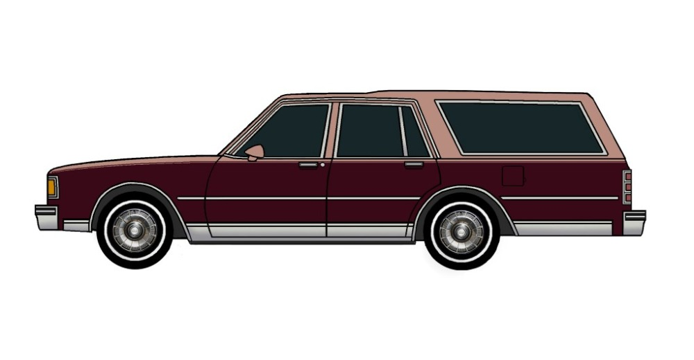 1985 Chevy Caprice Wagon CLAY ROSE & MAROON