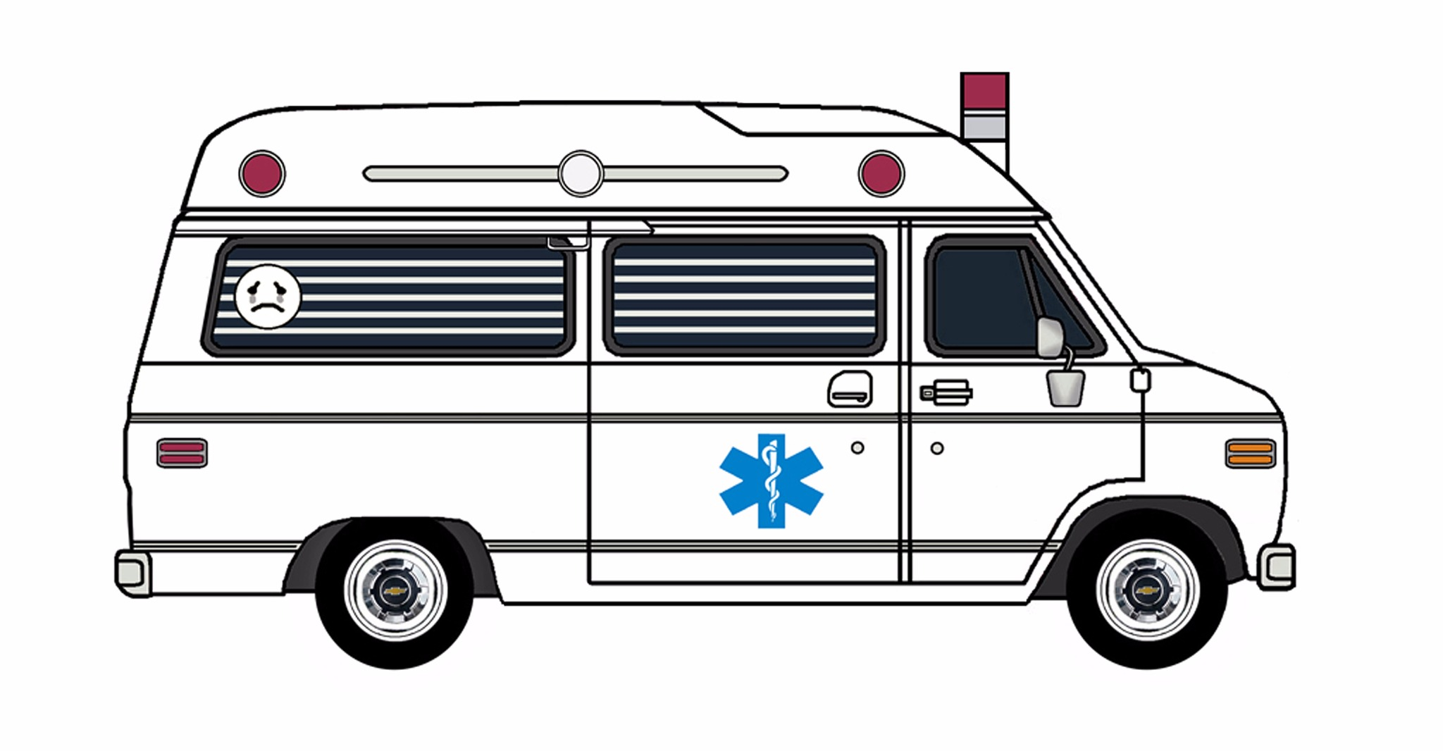 1977 Chevy G20 Ambulance WHITE