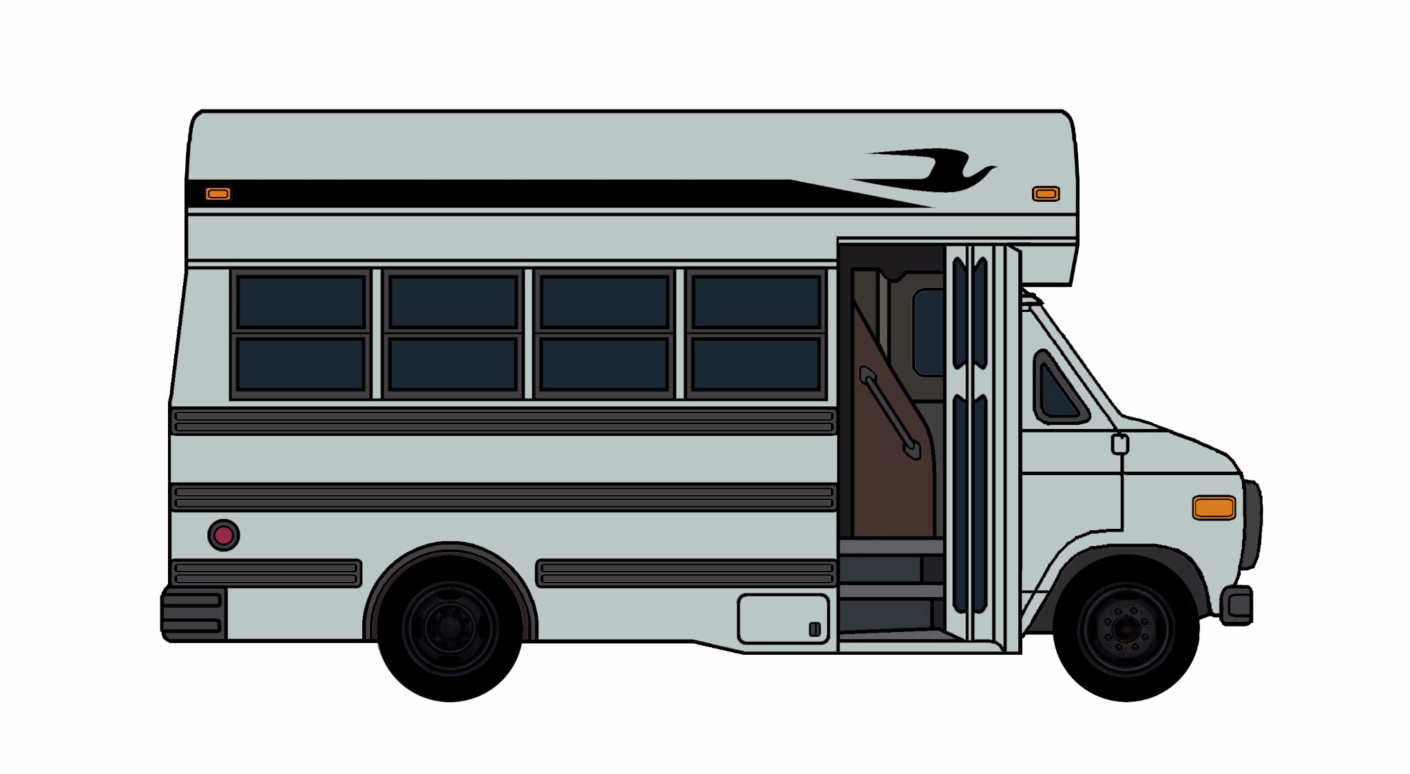 1985-96 Chevy G30 School Bus SLATE GREY