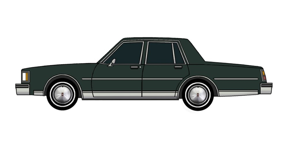 1984 Oldsmobile Delta 88 DARK EVERGREEN