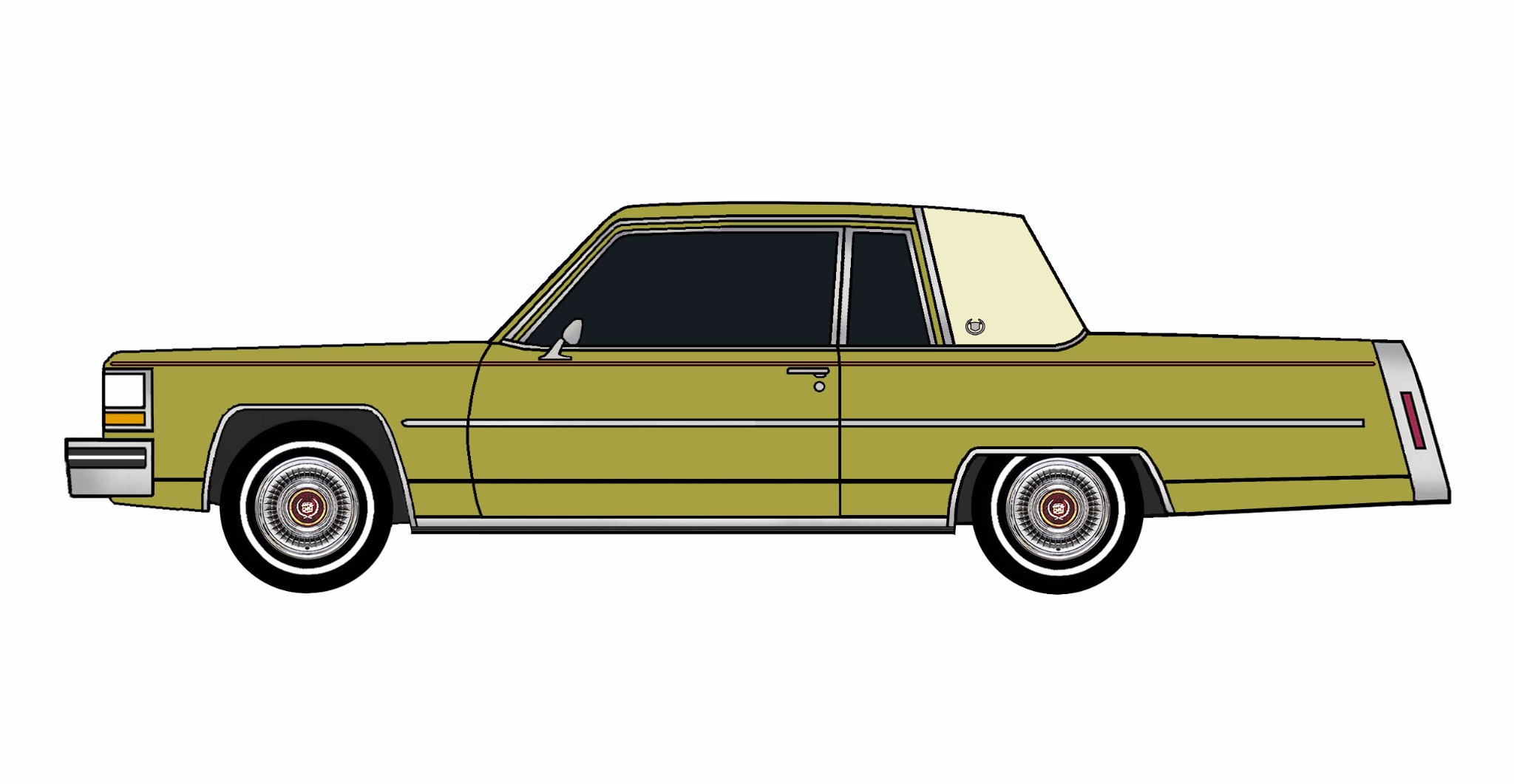 1981 Cadillac Coupe Deville GOLDEN OLIVE