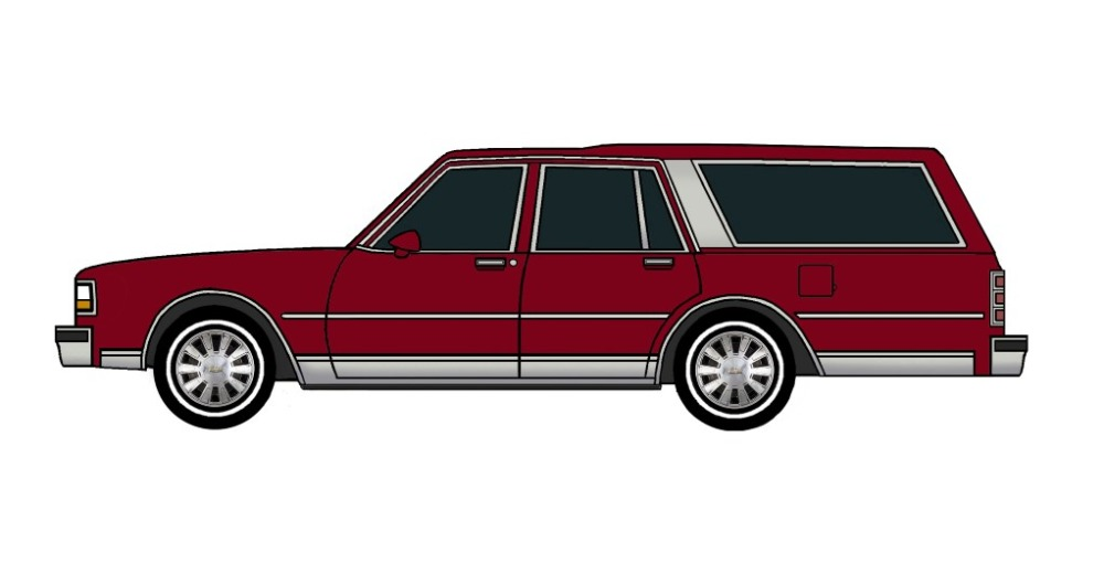 1988 Chevy Caprice Wagon BURGUNDY