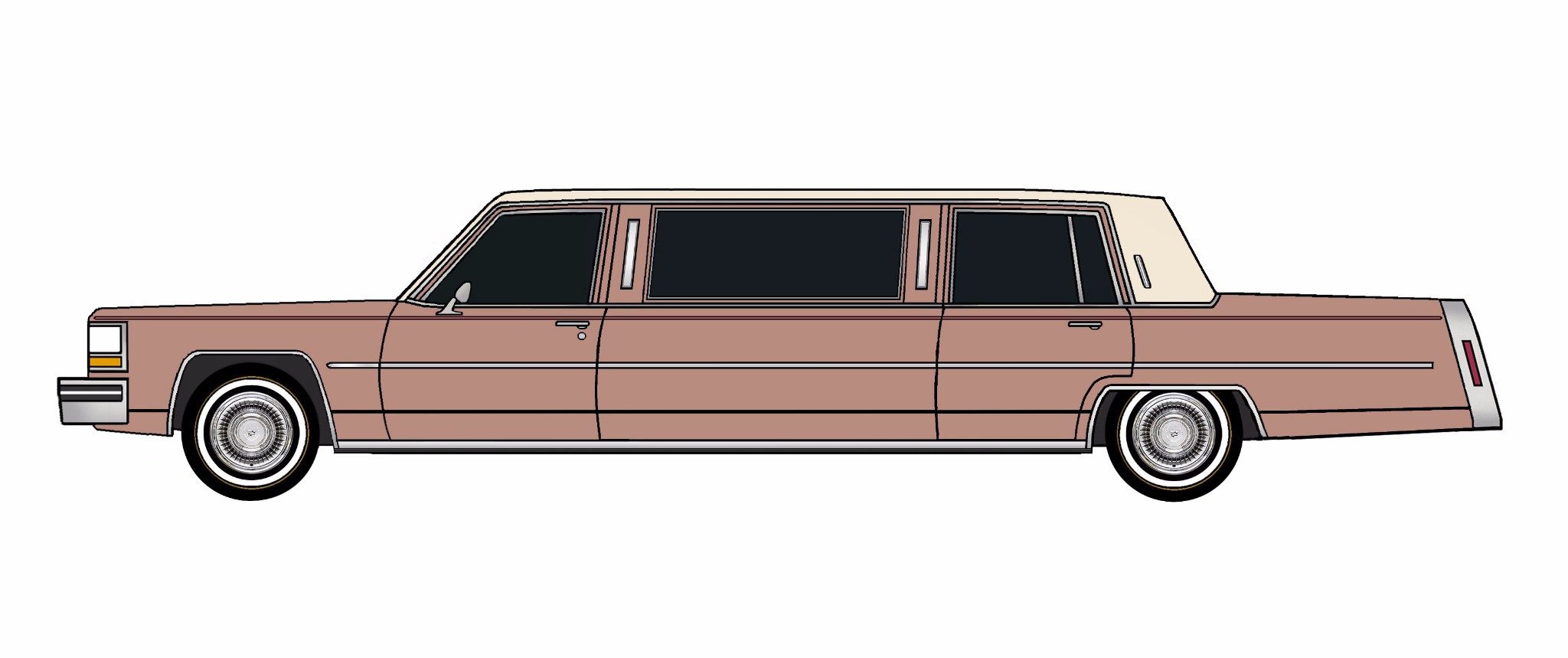 1980 Cadillac Fleetwood Limo CLAY ROSE