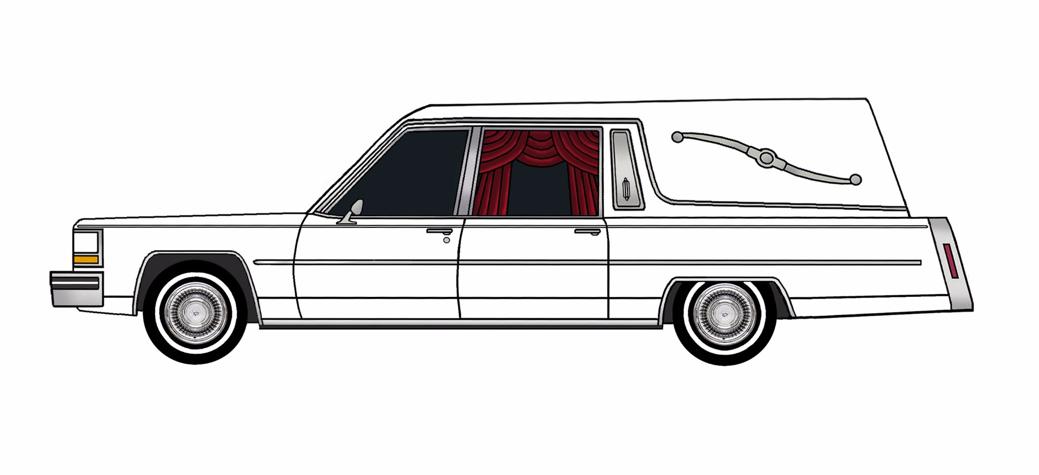 1980 Cadillac Fleetwood Hearse WHITE