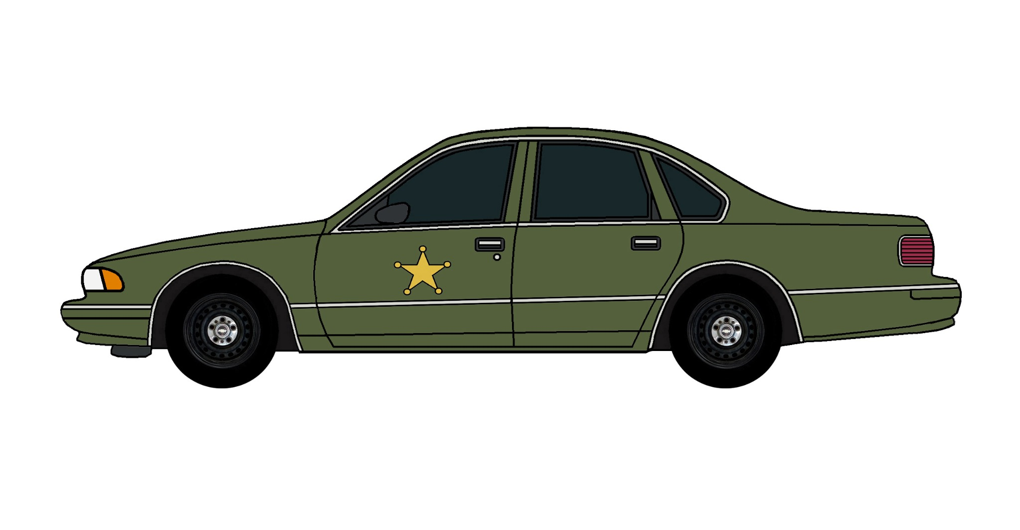 1995 Chevy Caprice Police Car ARMY GREEN