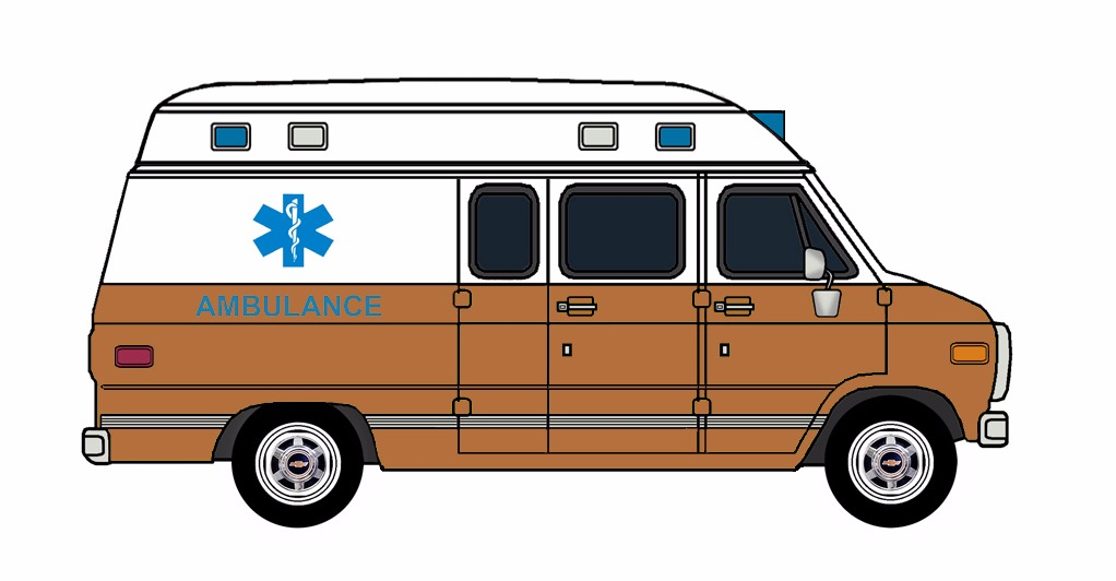 1985-96 Chevy G30 Ambulance WHITE & COPPER