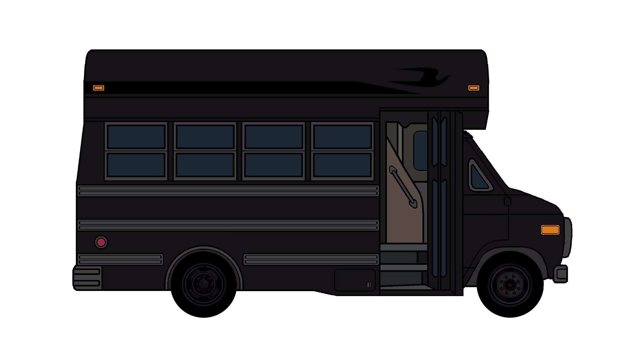 1985-96 Chevy G30 School Bus BLACK