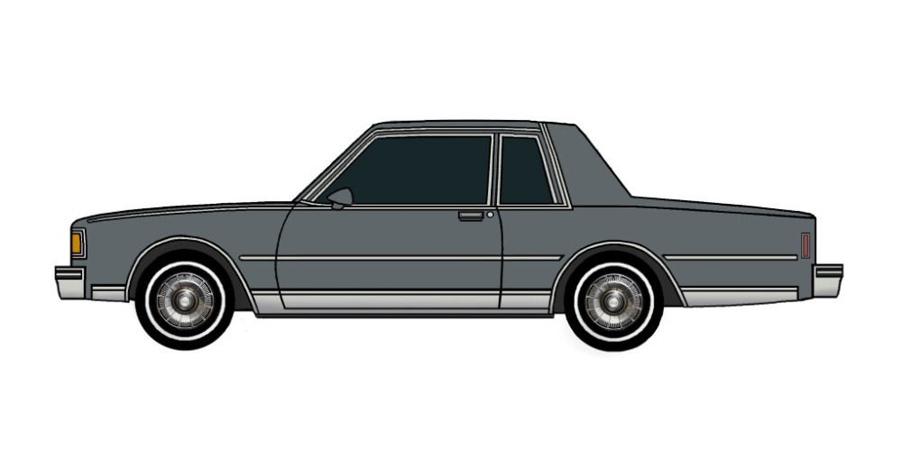 1985 Chevy Caprice Coupe CHARCOAL