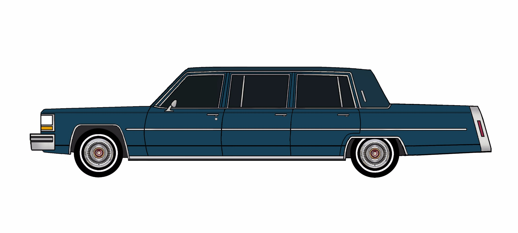 1981 Cadillac Fleetwood Funeral Limo MIDNIGHT BLUE