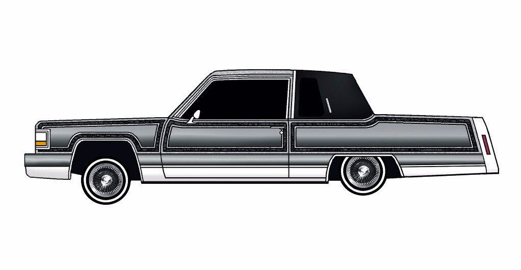 1984 Cadillac Fleetwood Coupe LOWRIDER Silverstone