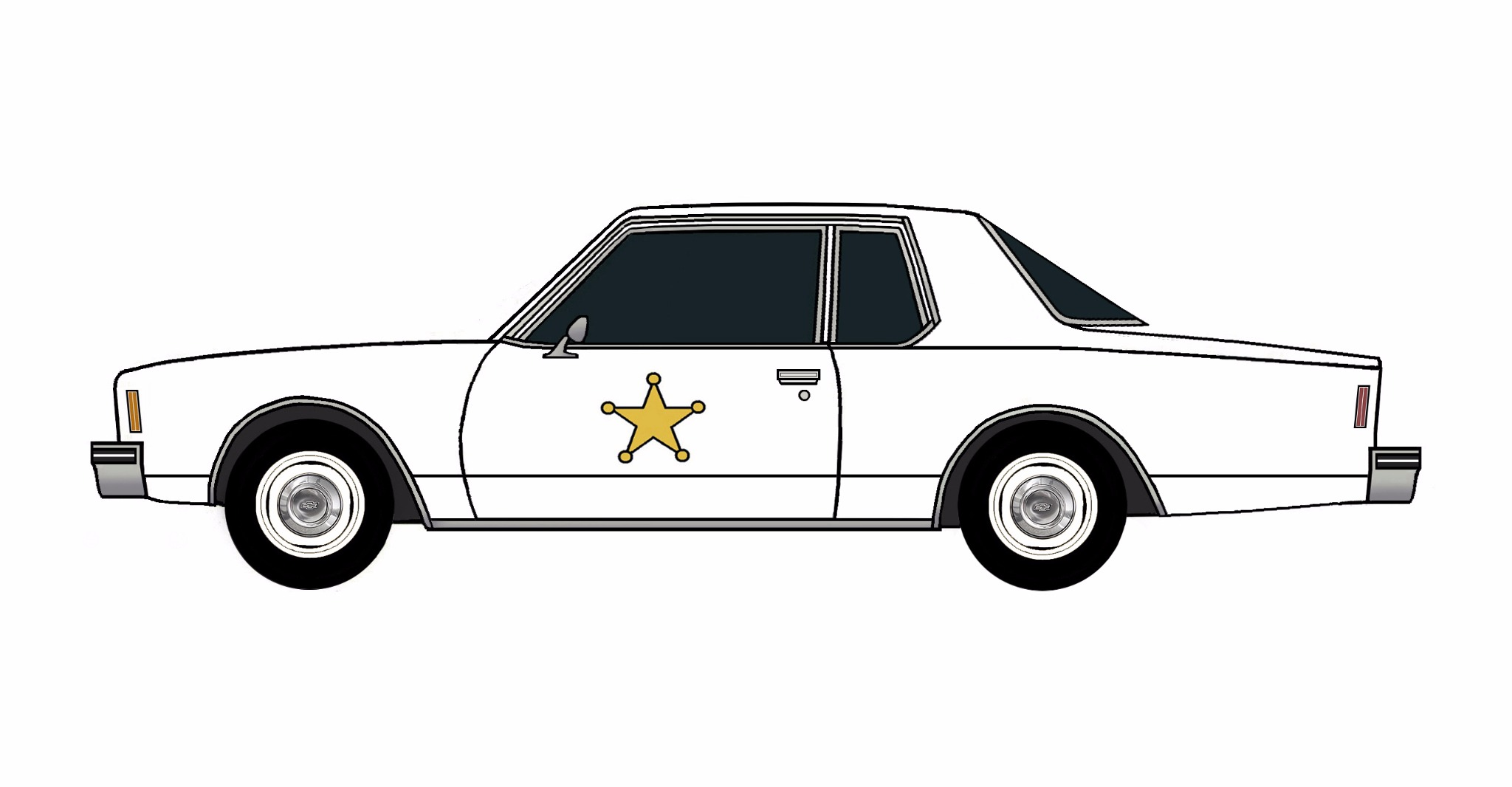 1977 Chevy Impala Police Coupe WHITE
