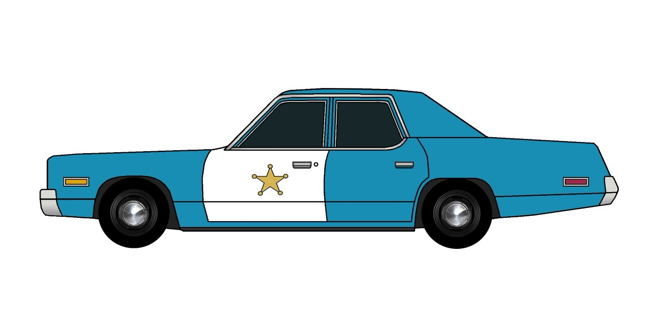 1974 Dodge Monaco Police SEA BLUE