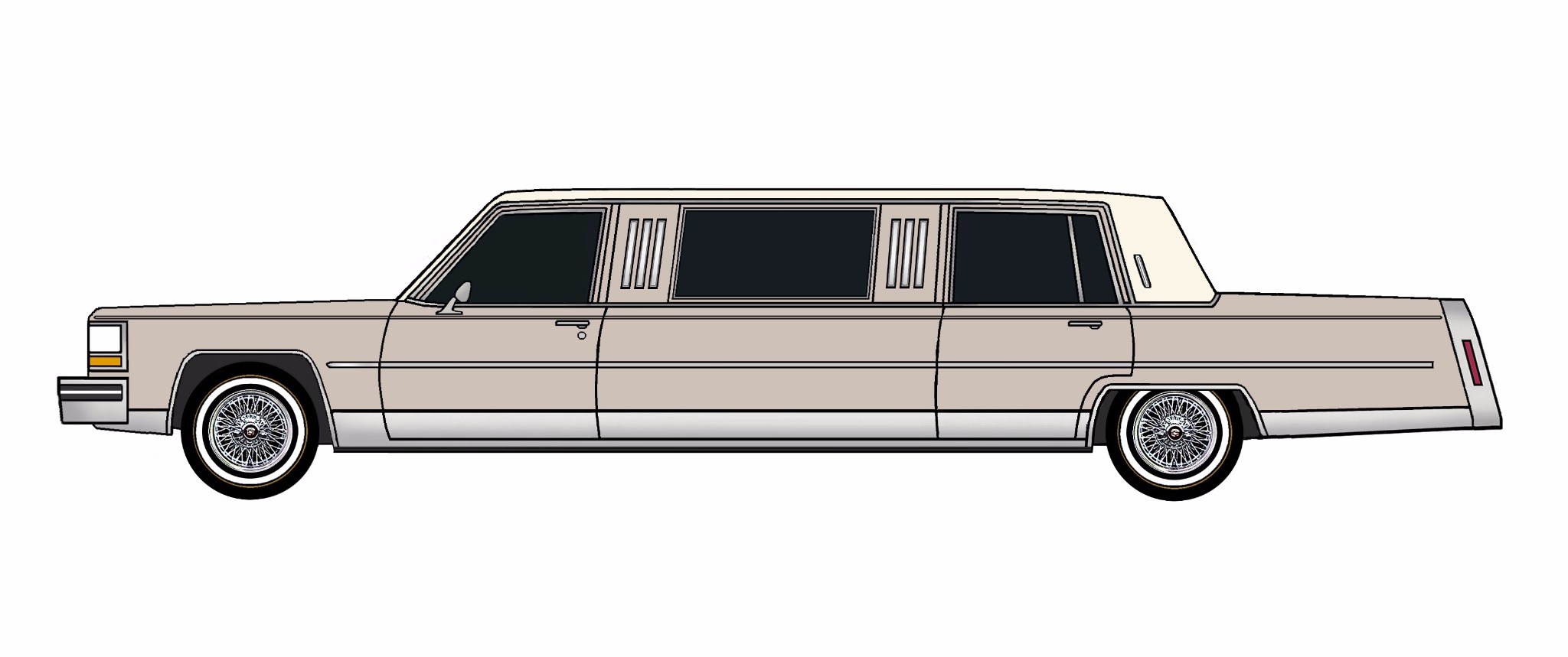 1984 Cadillac Fleetwood Brougham Limo LAVENDER