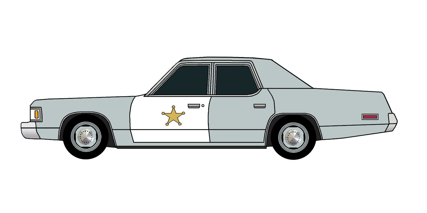 1976 Dodge Royal Monaco Police SLATE
