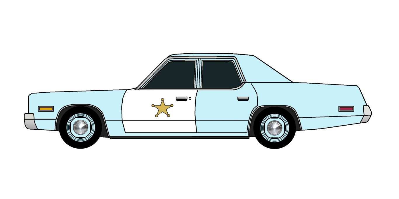 1974 Plymouth Fury Police PALE BLUE