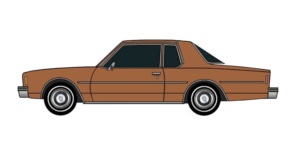 1977 Chevy Impala Coupe SIENNA BROWN