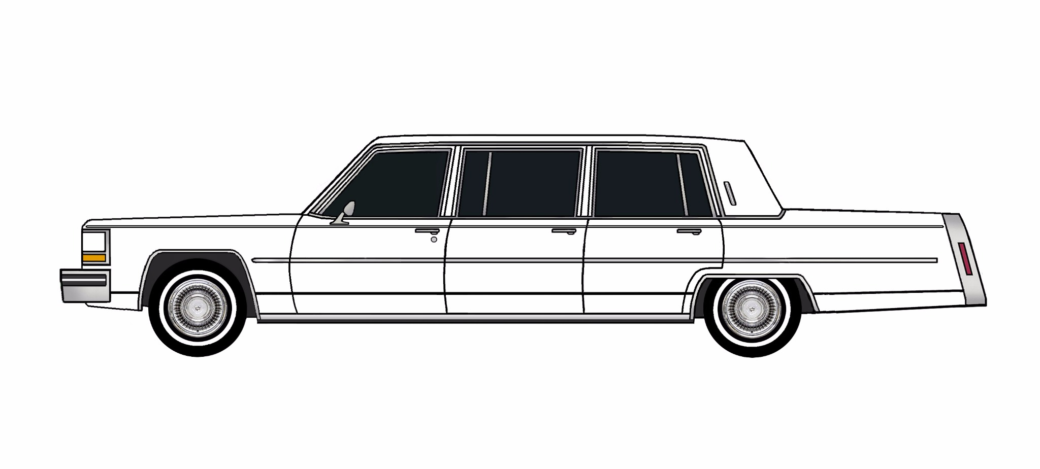 1980 Cadillac Fleetwood Funeral Limo WHITE