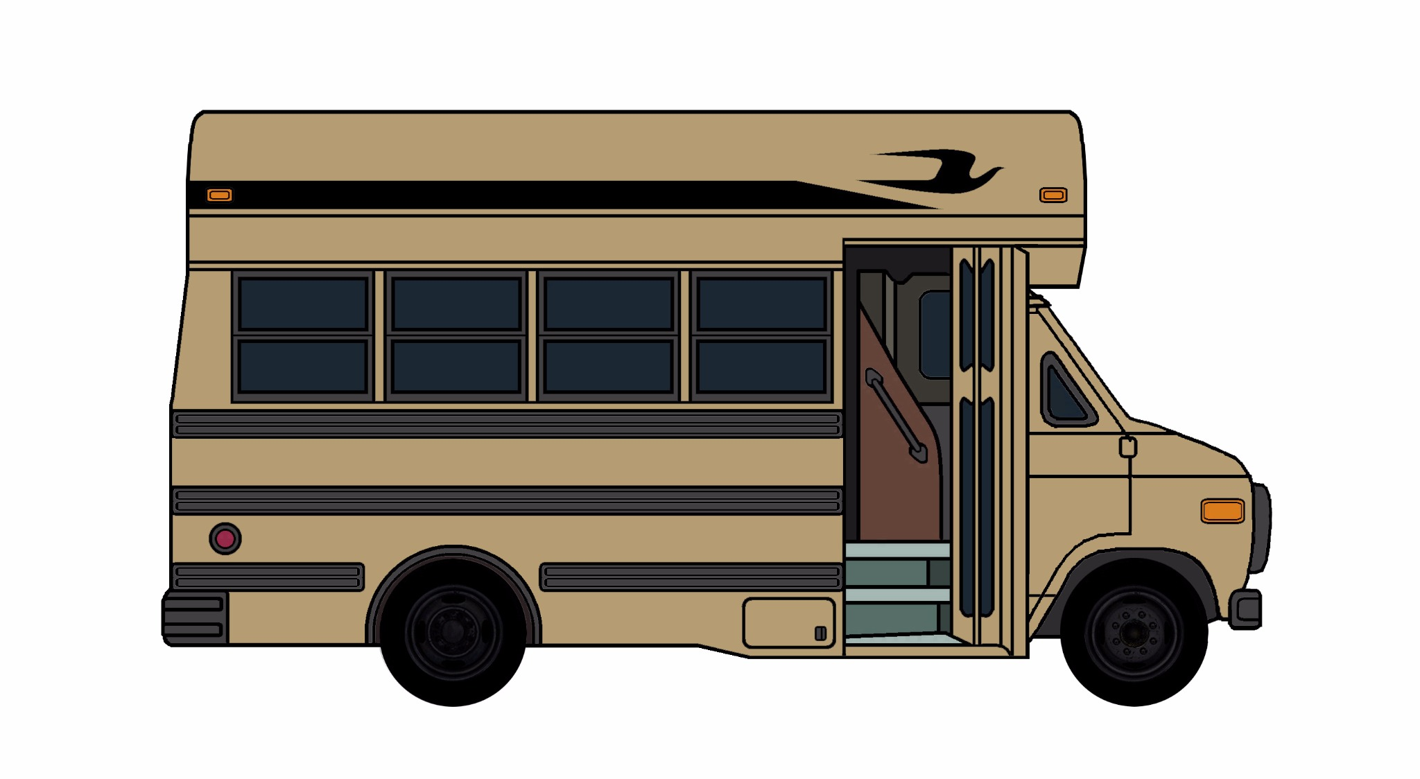 1985-96 Chevy G30 School Bus BRONZE