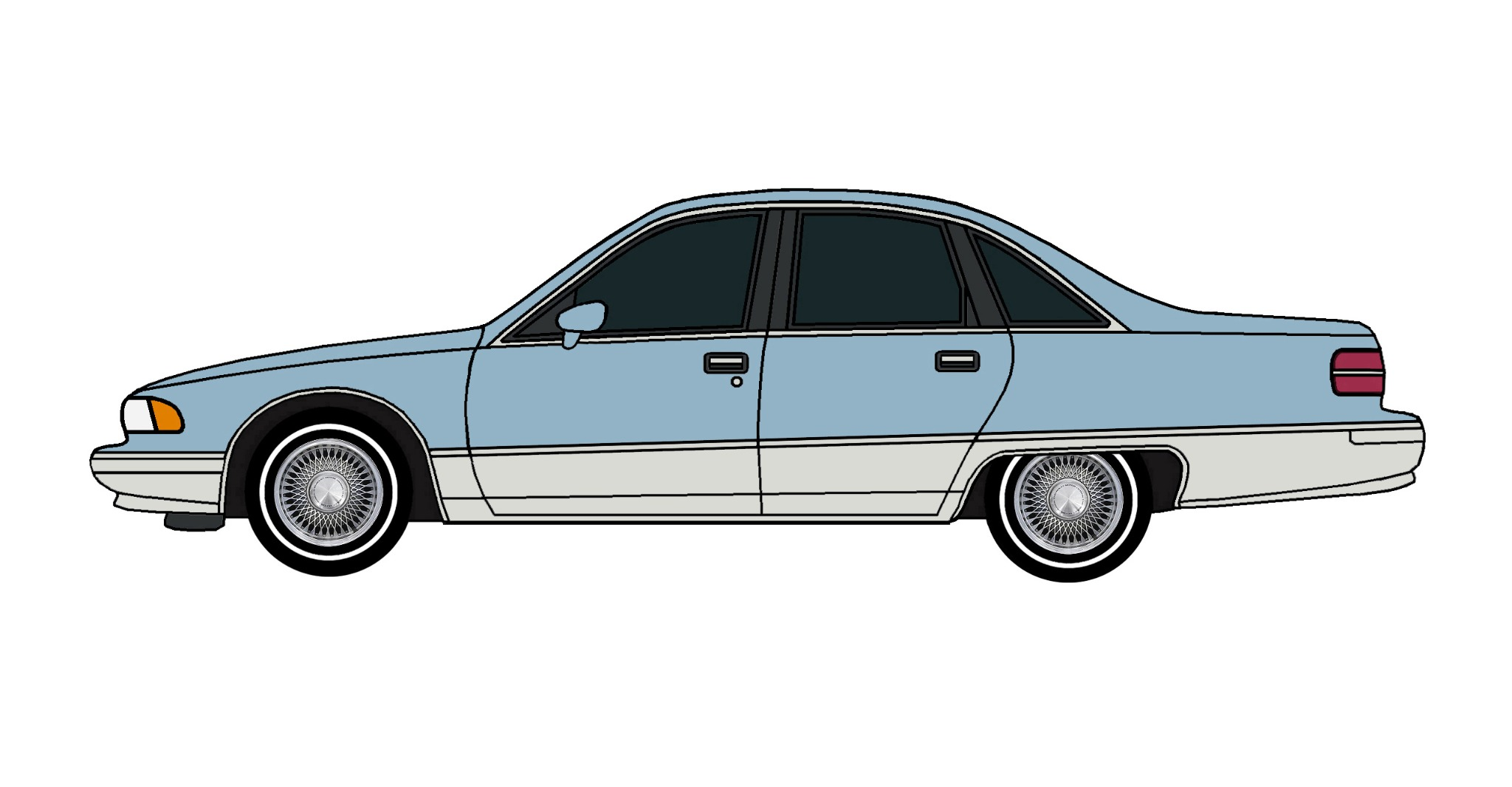1991 Chevy Caprice LIGHT BLUE & GREY
