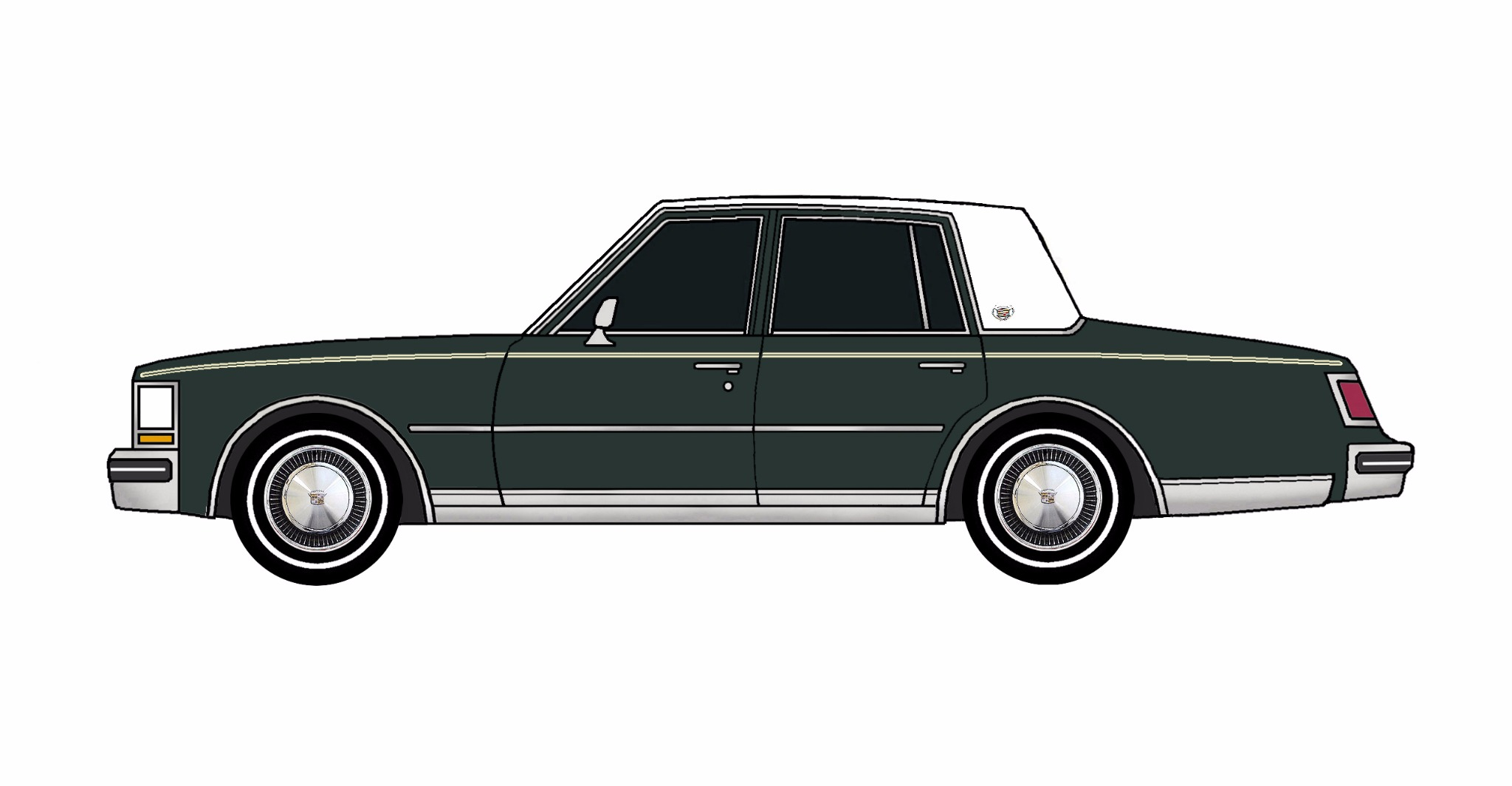 1976 Cadillac Seville DARK EVERGREEN