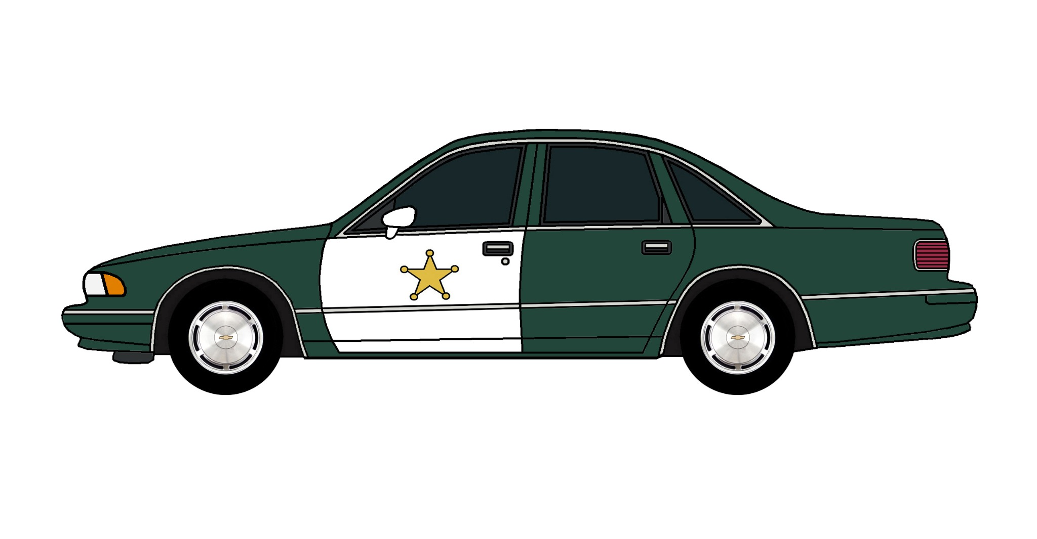1994 Chevy Caprice Police Car HUNTER GREEN