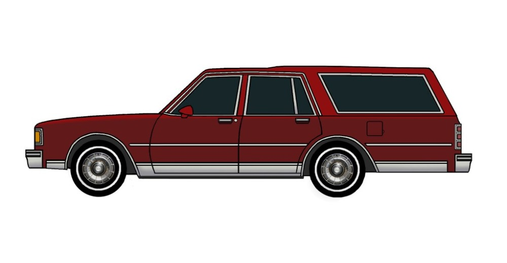 1985 Chevy Caprice Wagon BURGUNDY & TUSCAN RED