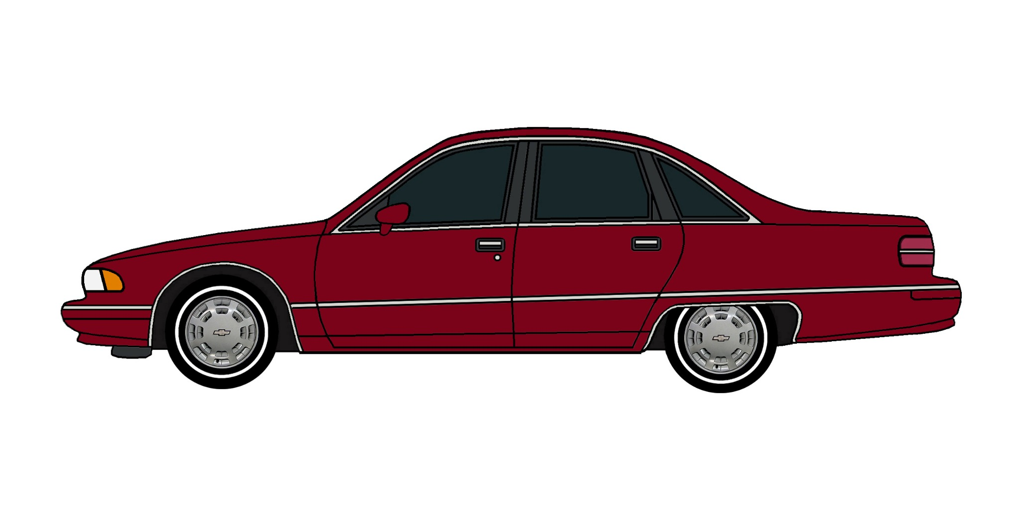 1991 Chevy Caprice DEEP BURGUNDY