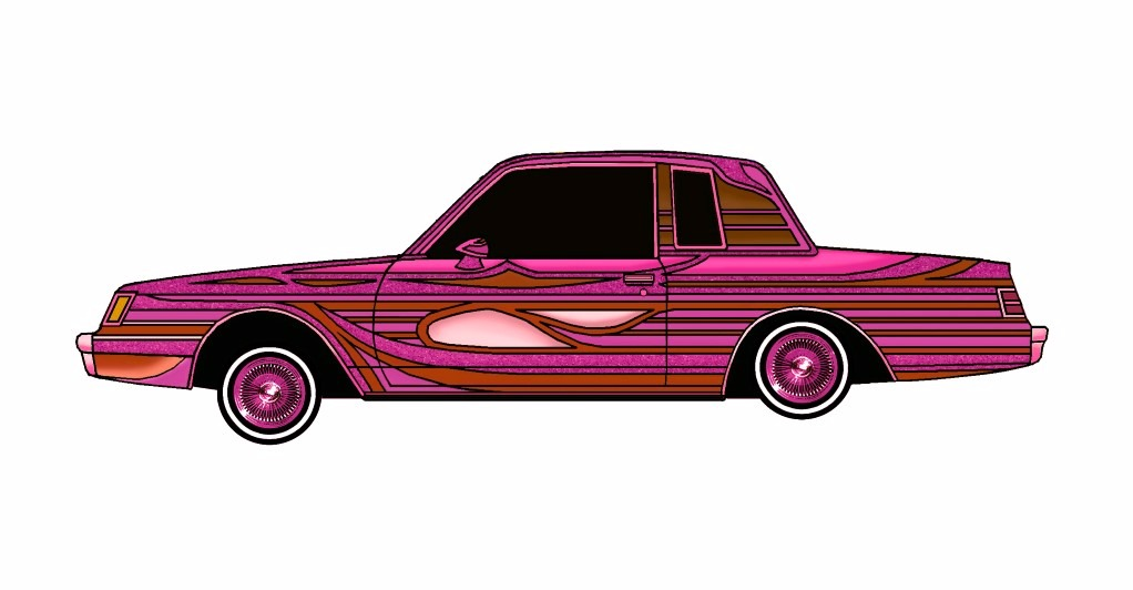 1985 Buick Regal LOWRIDER Magenta Rose
