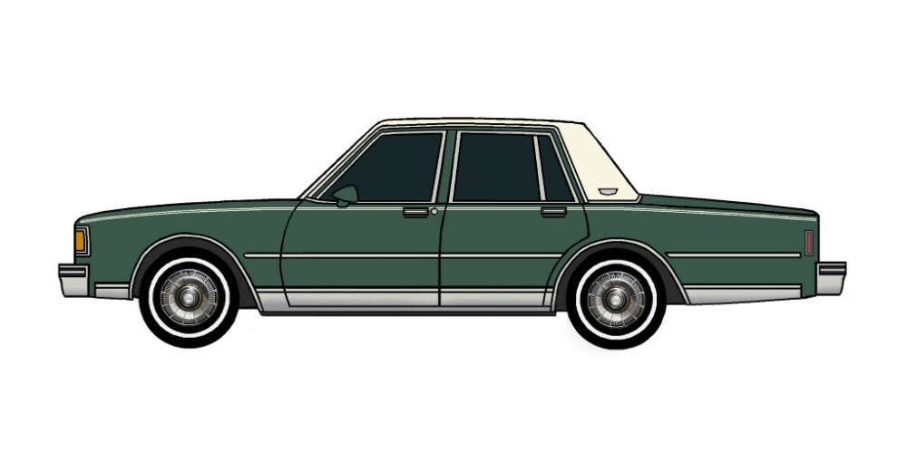 1985 Chevy Caprice Brougham HUNTER GREEN