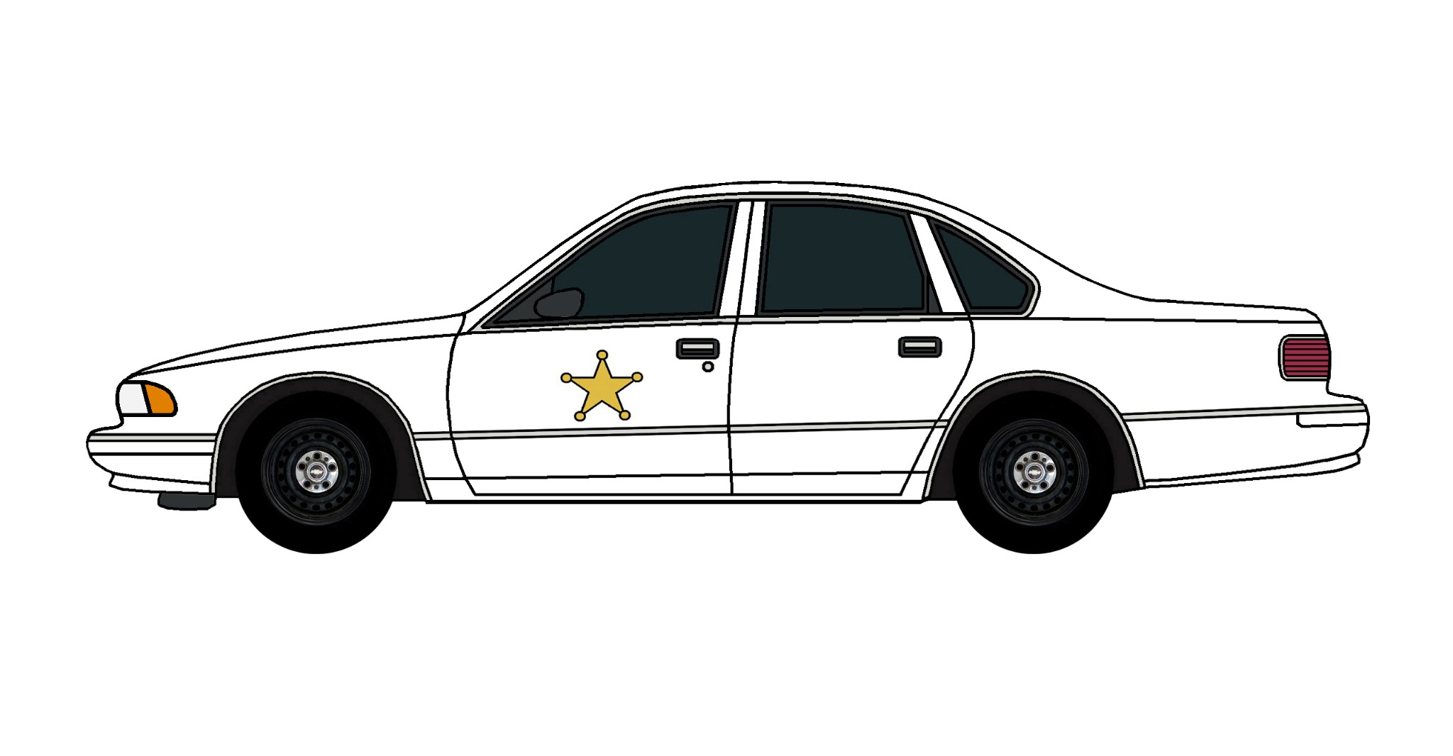 1995 Chevy Caprice Police Car WHITE
