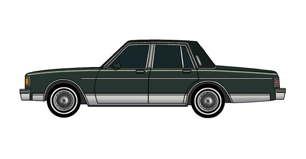 1986 Pontiac Parisienne DARK EVERGREEN