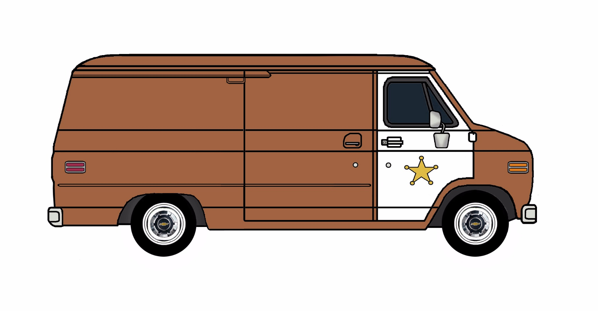 1977 Chevy G20 Police Van SIENNA BROWN